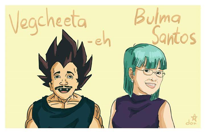 "Rene Requiestas (Cheeta-eh) as ""Vegcheeta-eh"" (Vegeta) and Vilma Santos as ""Bulma Santos"" (Bulma)"