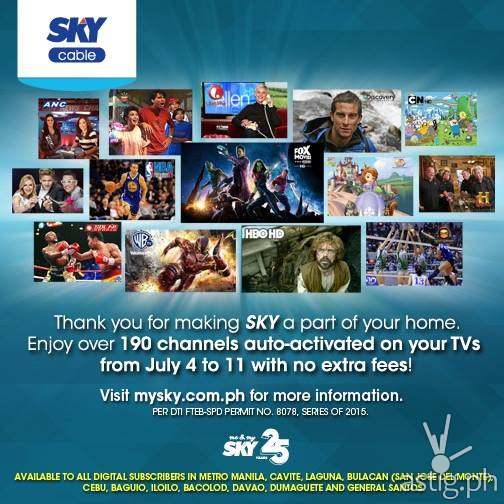 Sky Cable 25th anniversary promo