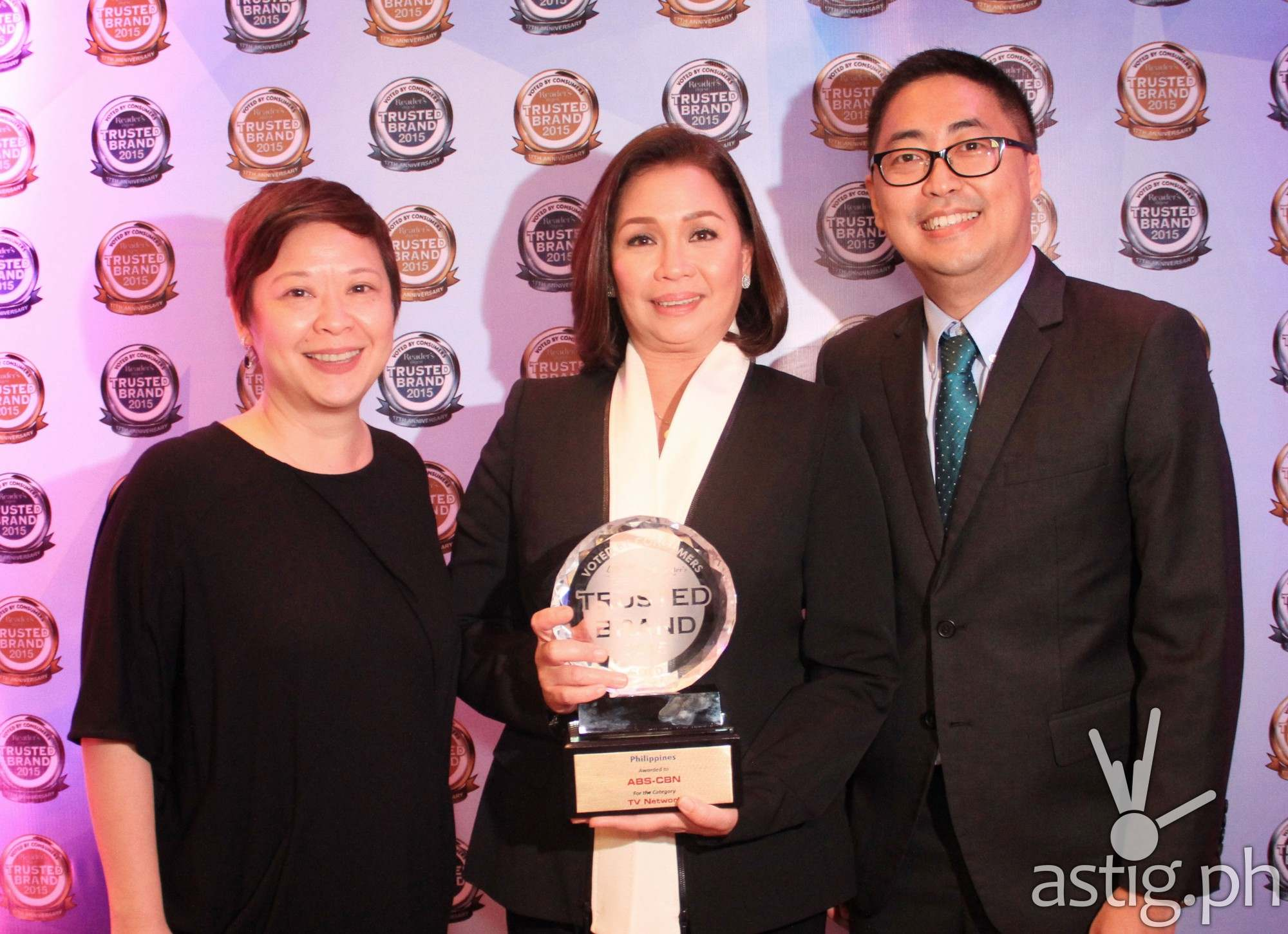 ABS-CBN Integrated Marketing head Cookie Bartolome, Reader's Digest's Sheron White, ABS-CBN Free TV