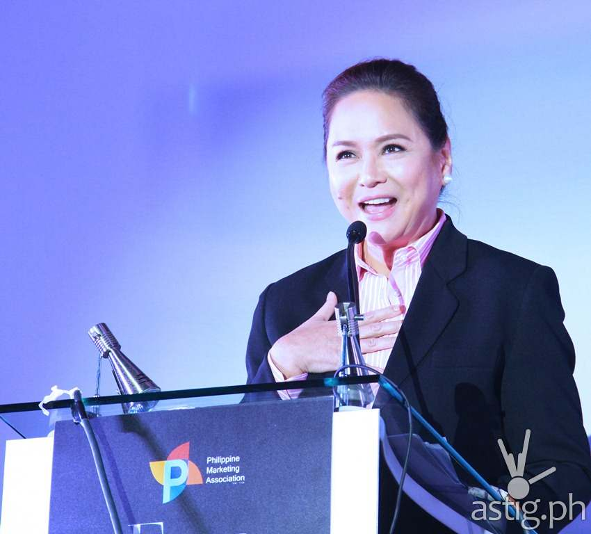 ABS-CBN president and CEO Charo Santos-Concio at the Fifty Shades of Marketing conference