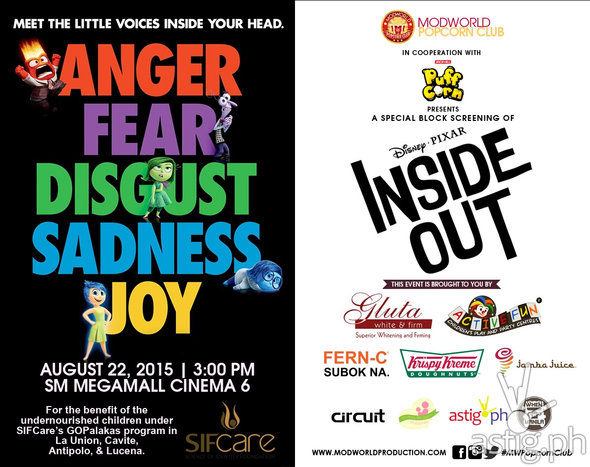 Disney Pixar Inside Out poster Modworld Philippines