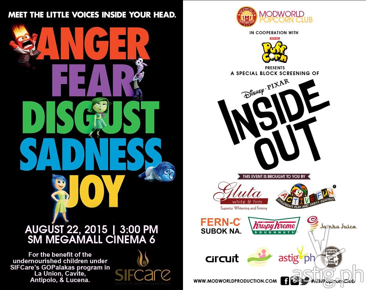 Disney Pixar Inside Out poster Modworld Philippines