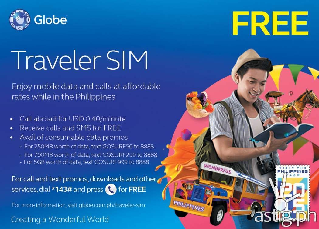 Globe Traveler SIM is FREE for travelers and OFWs