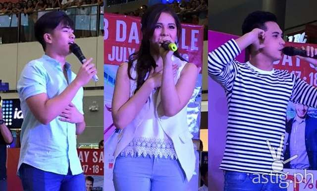Marlo, Manolo, and Janella led the 'Oh My G' gran fans day at SM City San Pablo last Sunday