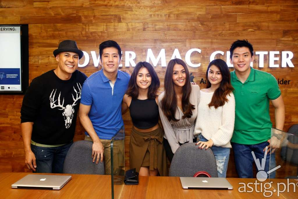 Power Mac Center SM Megamall, the very first store of the most reliable Apple partner in the Philippines, celebrates the unveiling of its new and enhanced look at the recently held Dare to Transform event. In attendance are Power Mac Center brand ambassadors (from left to right) Rovilson Fernandez, Jeric Teng, Mari Jasmine, Vanessa Matsunaga, Chiena Filomena, and Jeron Teng.