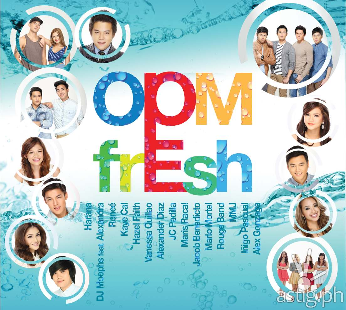 OPM Fresh CD back--track list