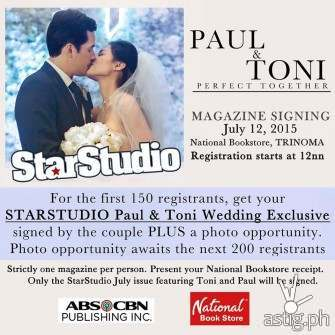 Toni Gonzaga & Paul Soriano fans day & autograph signing at Trinoma