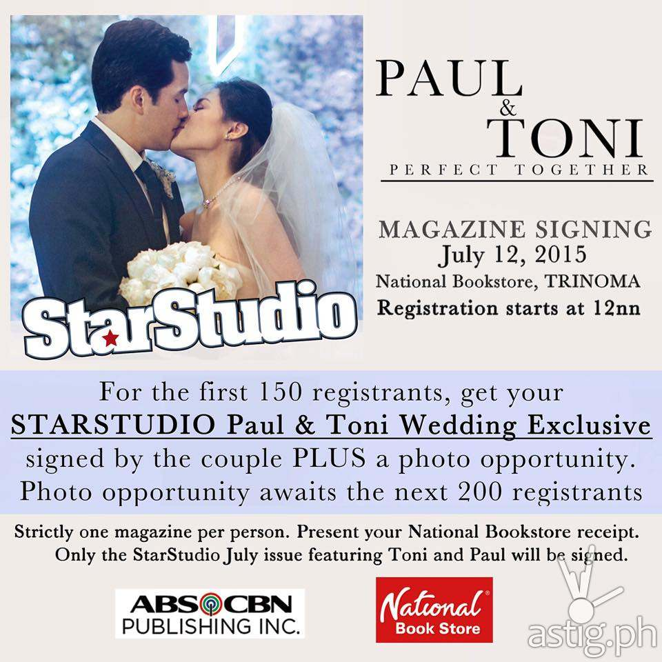 Paul and Toni's autograph signing