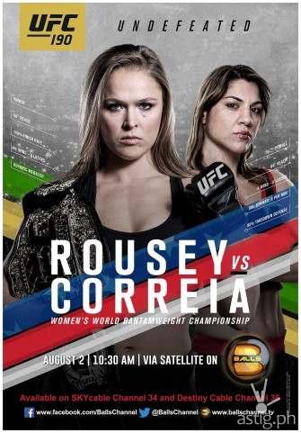 Rousey vs Correia on UFC 190 this Saturday