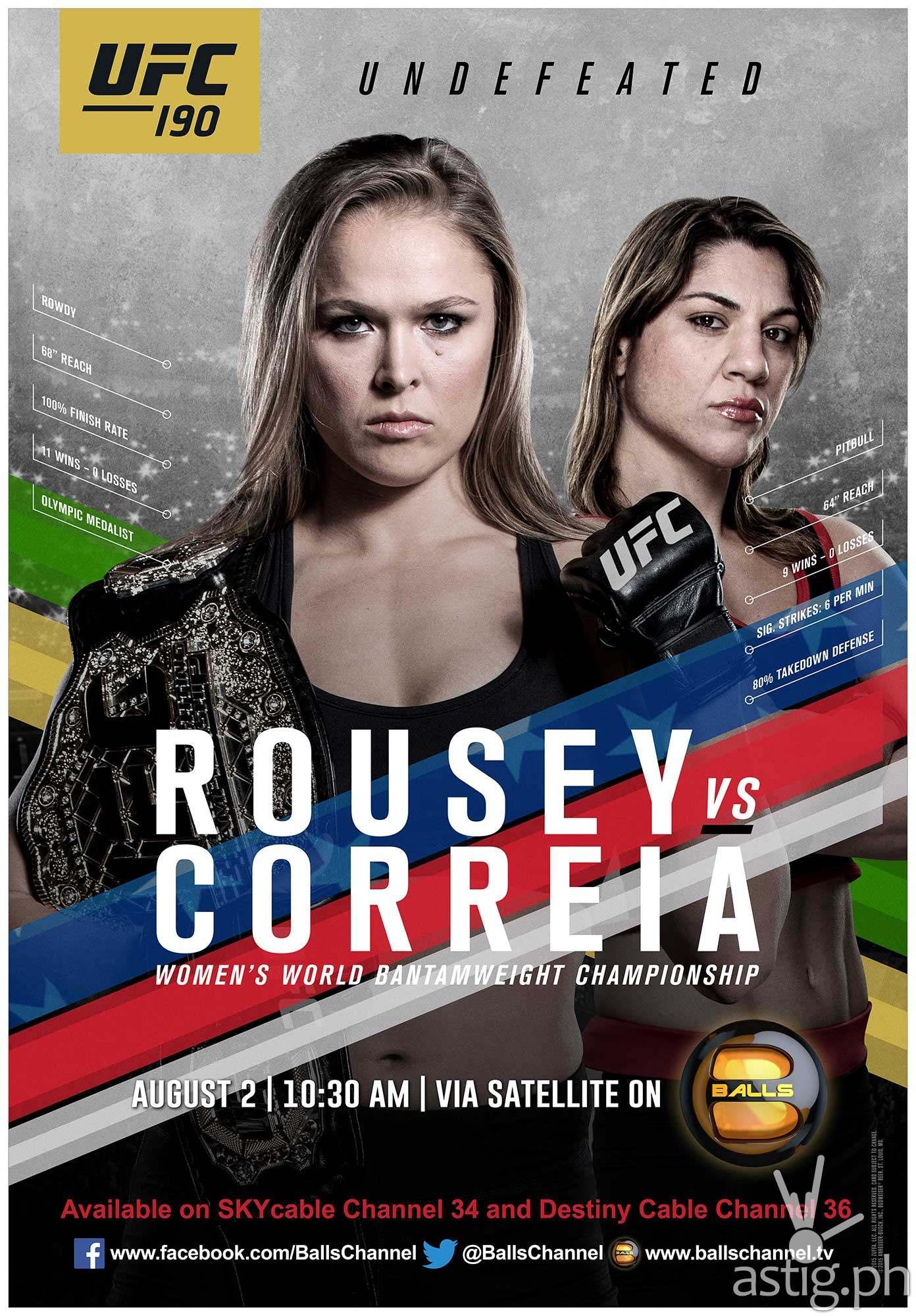 UFC 190 Rousey vs Correia