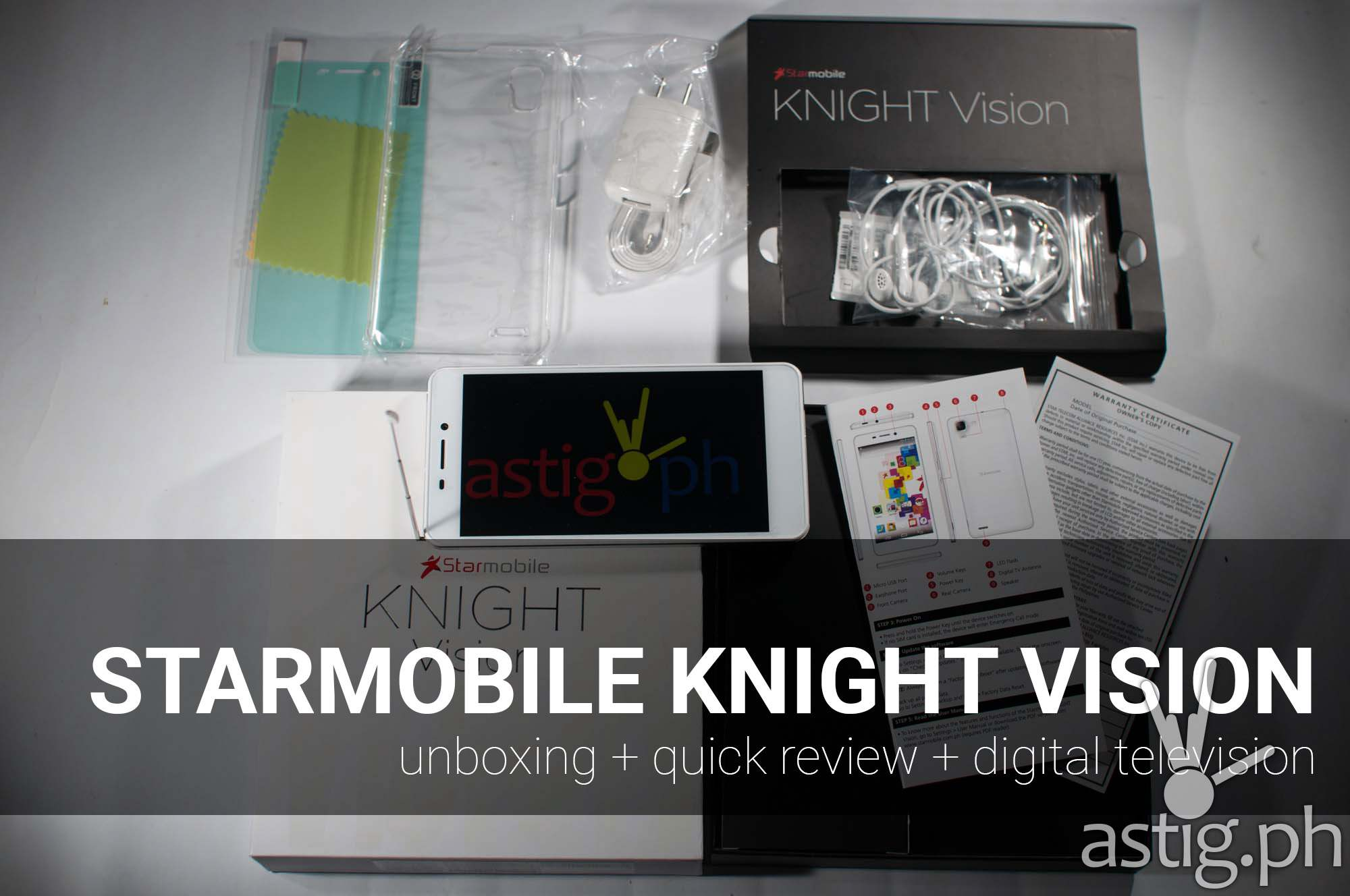 Starmobile Knight Vision review unboxing