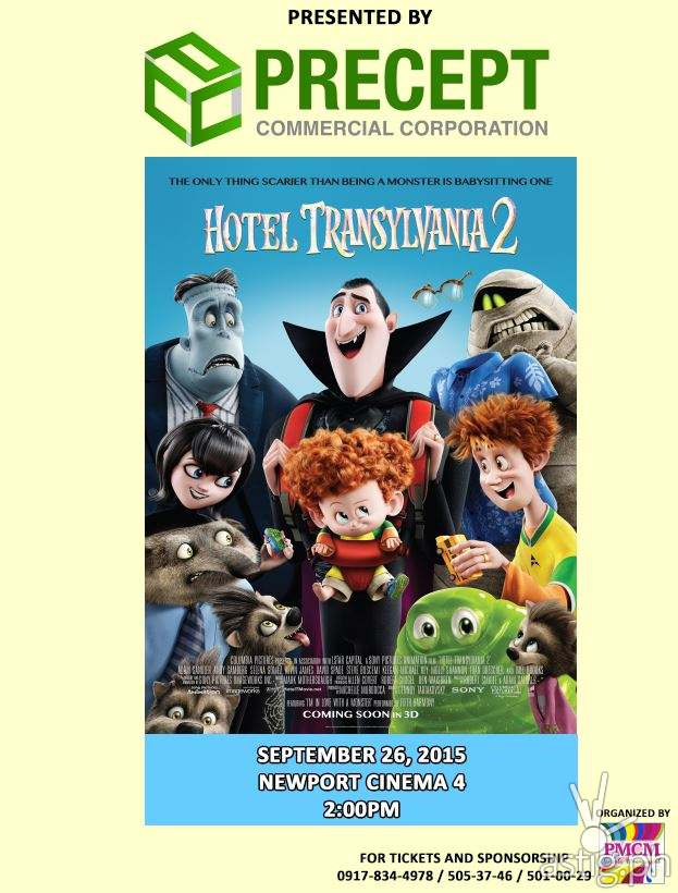 Precept Commercial Corporation (PCC) presents a movie screening of Hotel Transylvania 2 at Newport Cinema 4