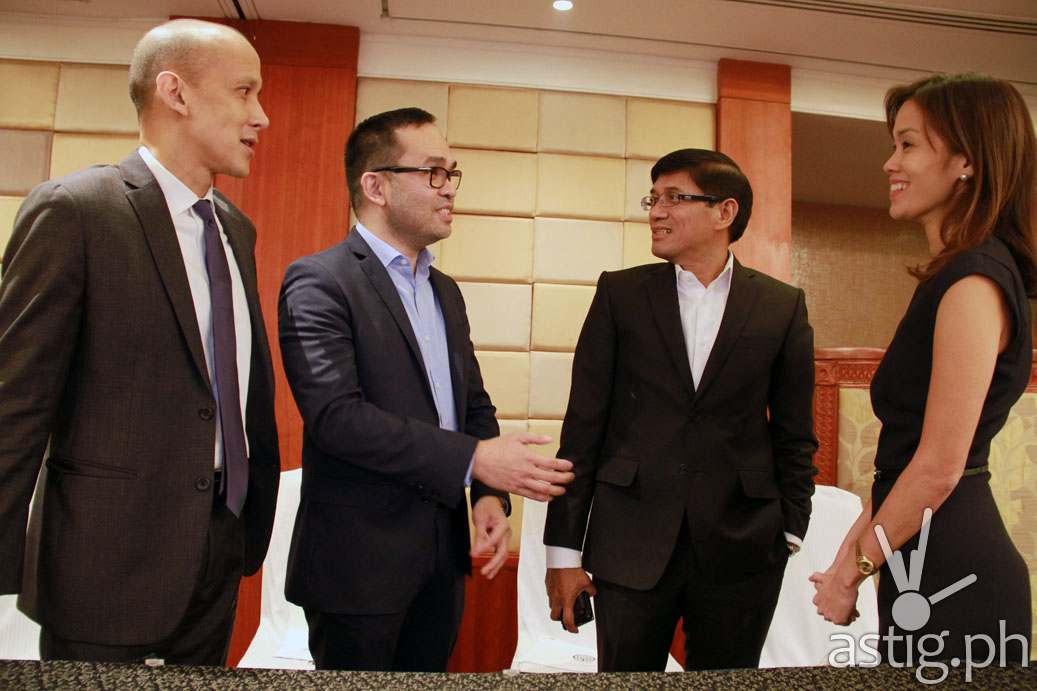 ABS-CBN executives L-R--Ricardo Tan, corporate treasurer_ Aldrin Cerrado, CFO_ Rolando Valdueza, group CFO and head of Corporate Services Group 2_ and Cat Uy, CFO of ABS-CBN Convergence.jpg