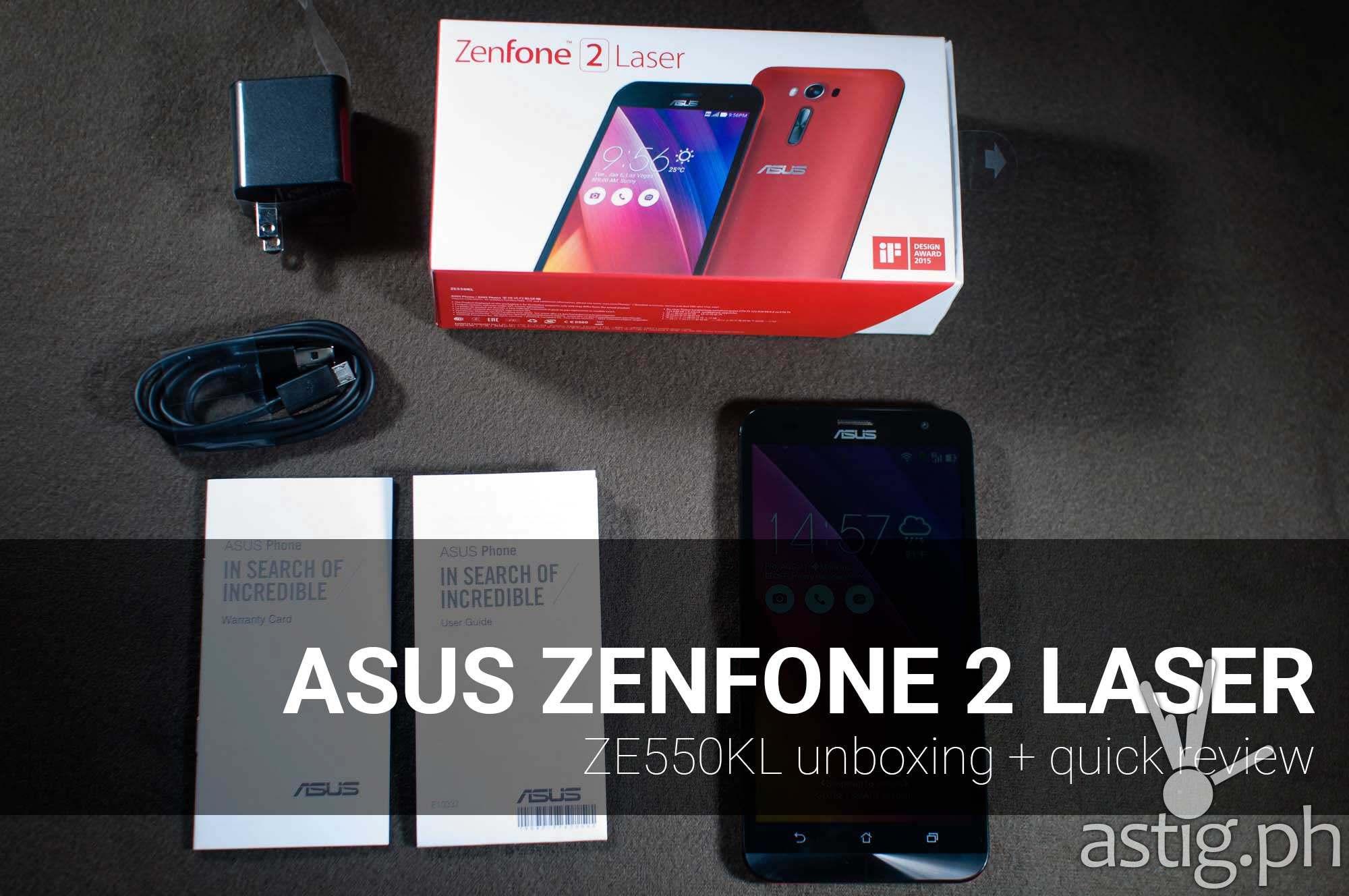 ASUS Zenfone 2 Laser unboxing review video