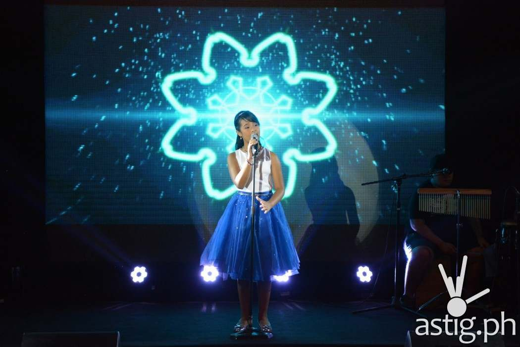 "Asia's Got Talent's Gwyneth Dorado enchants the crowd with her rendition of Disney's ""Let It Go"" from the popular animation ""Frozen"""
