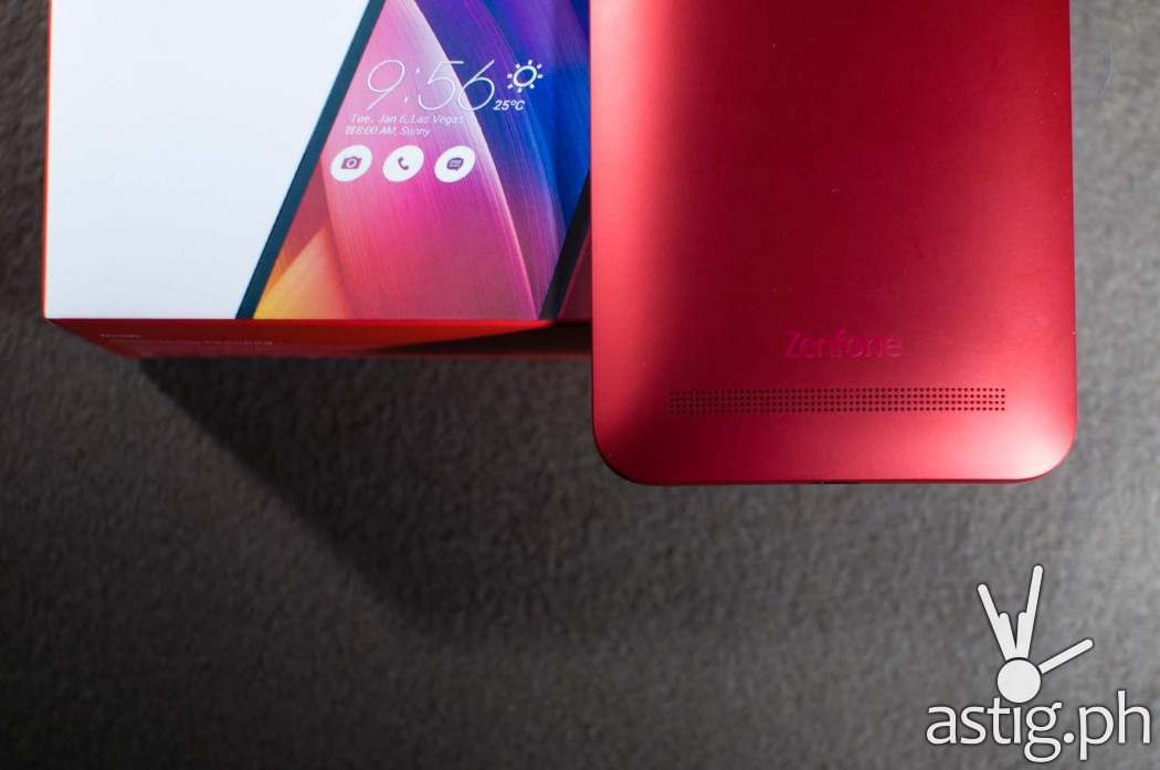 ASUS Zenfone 2 Laser (ZE550KL) lower back showing speakers