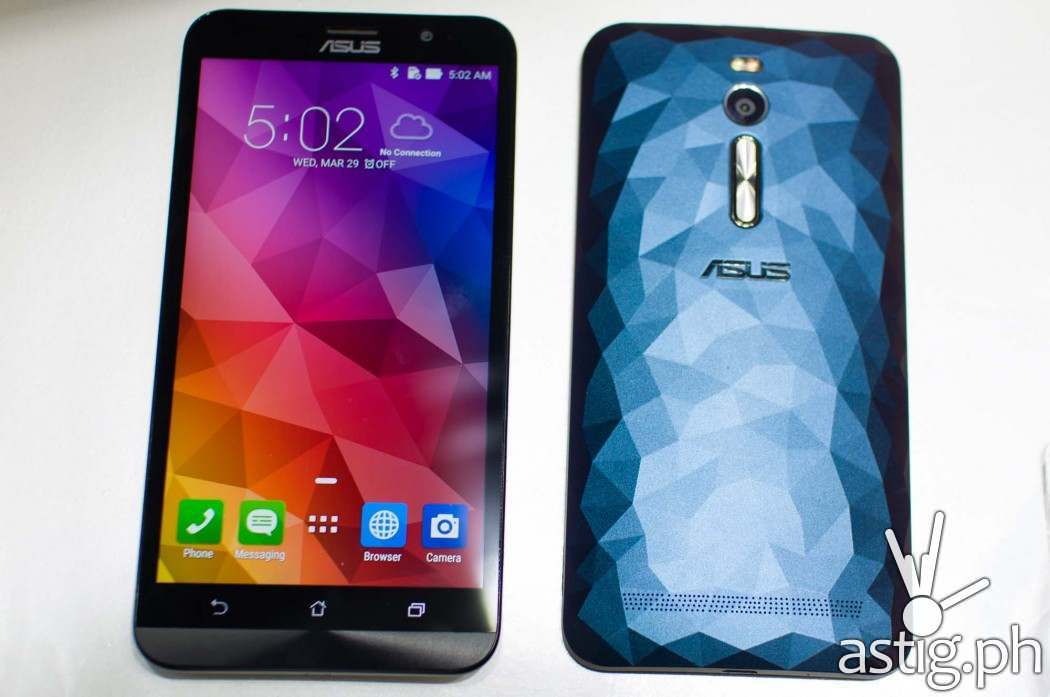The ASUS ZenFone 2 Deluxe has a stunning, all-new design inspired by the natural beauty of crystals