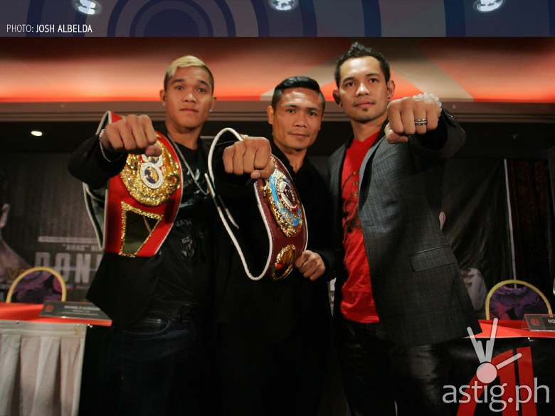 Prince Albert Pagara, Donnie Nietes and Nonito Donaire