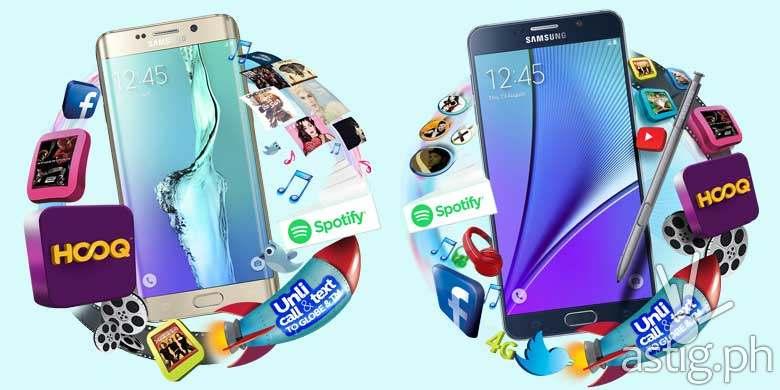 Samsung Galaxy S6 Edge+ Samsung Galaxy Note 5 price Globe Telecom
