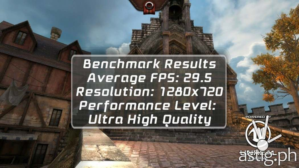 ASUS Zenfone 2 Laser gaming benchmark results Epic Citadel on Ultra High Quality