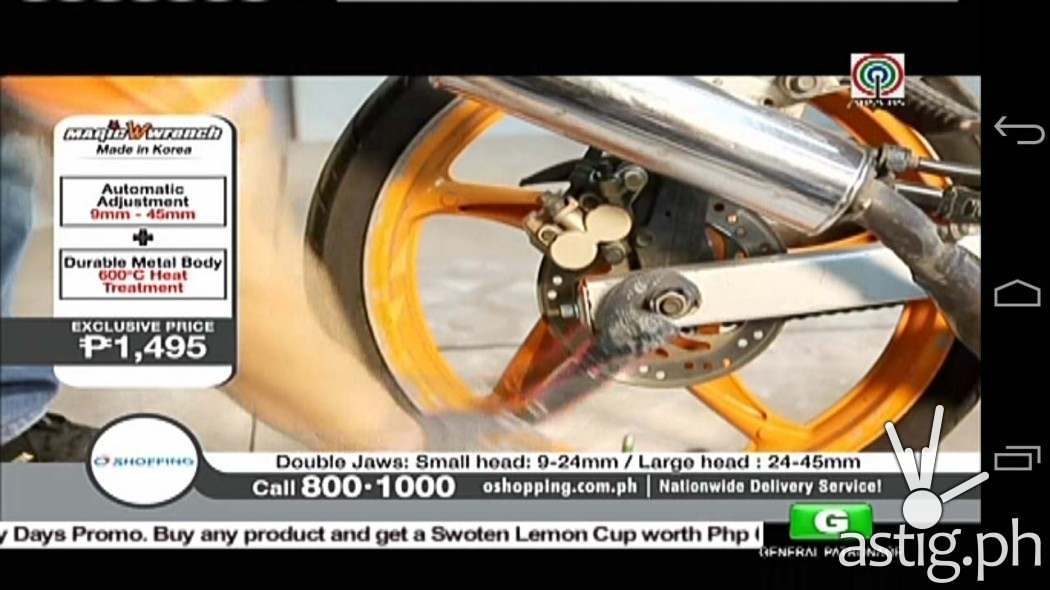 Digital TV screenshot captured on the Starmobile Knight Vision