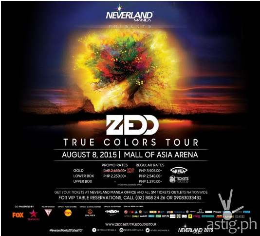 Zedd True Colors Tour Neverland Manila