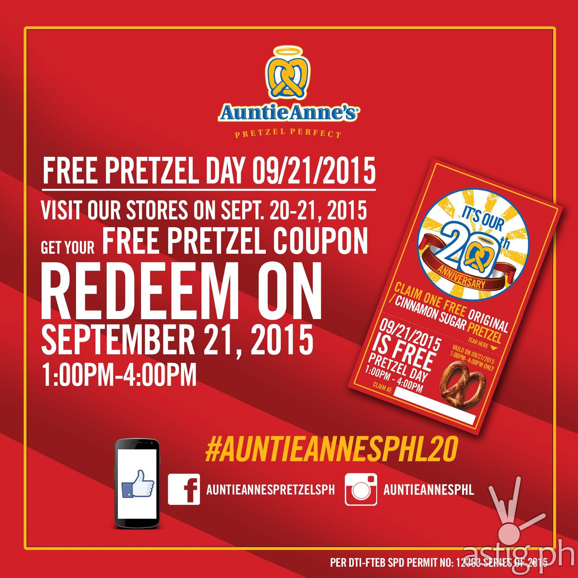 Auntie Anne's Free Pretzel Photo