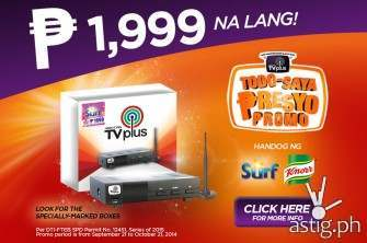 ABS-CBN TVplus price drop: down to P1,999 from P2,500