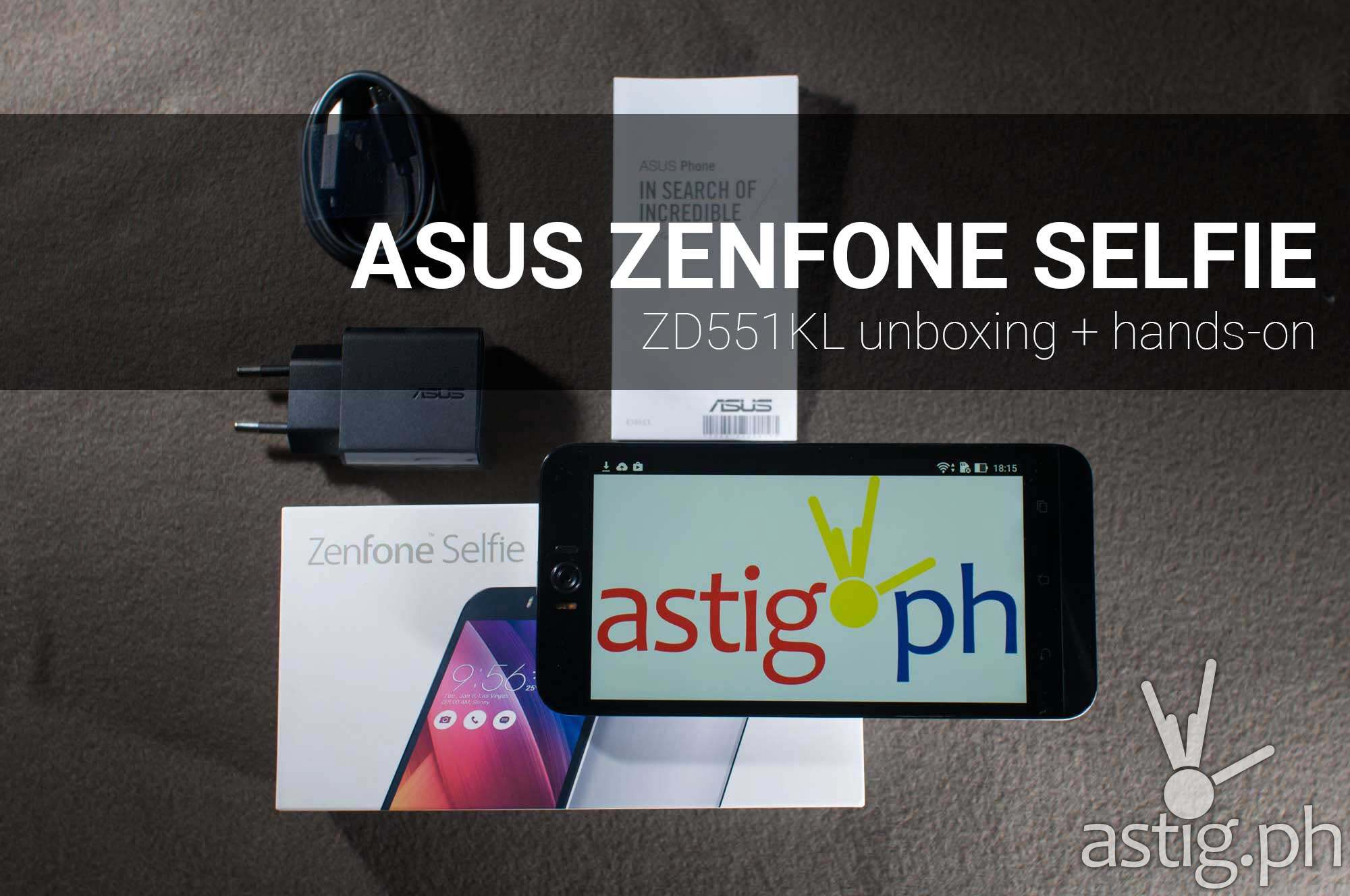 ASUS Zenfone Selfie unboxing + hands on review