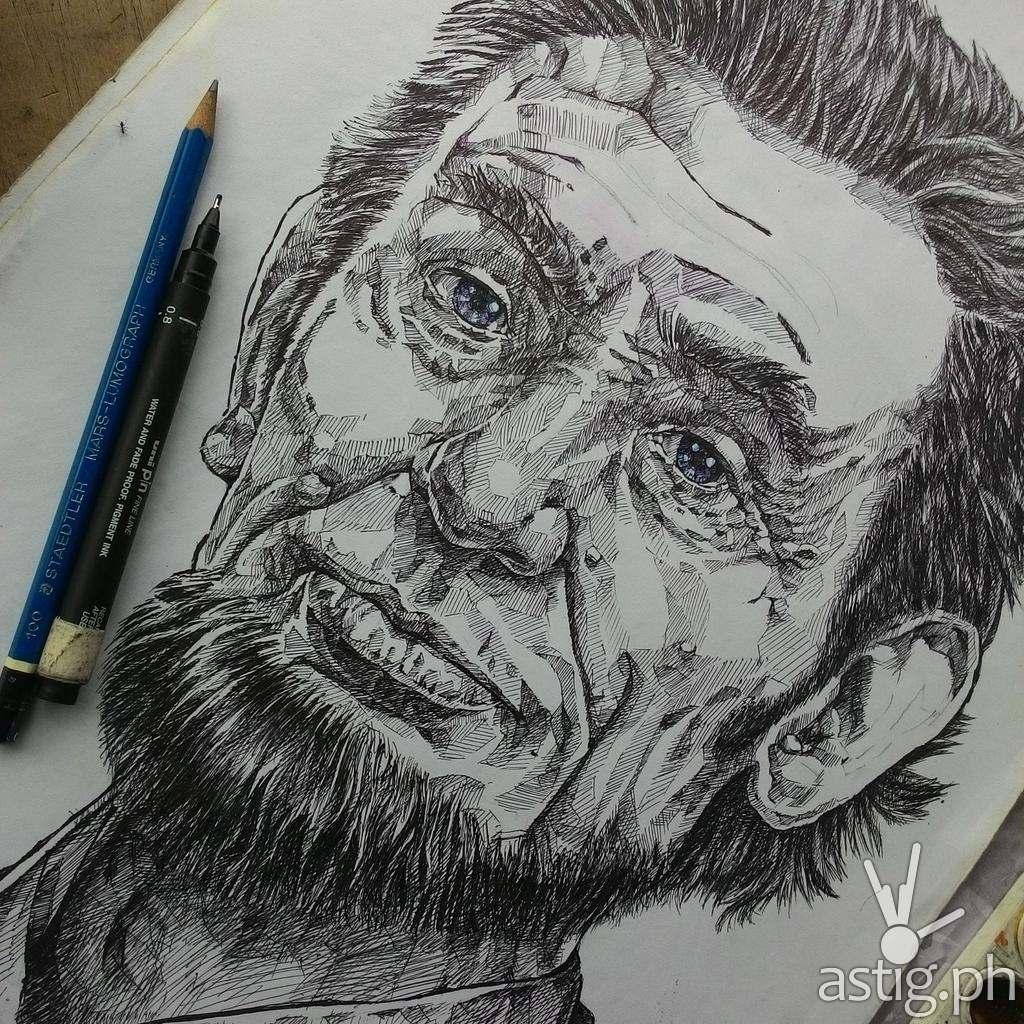 Abraham Lincoln pencil sketch by Peejhey Palita