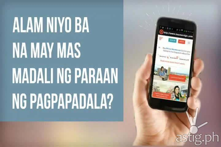 You can remit money using the BeamAndGo website or mobile app