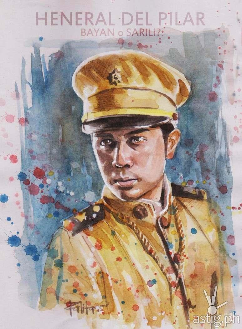 Gen Gregorio 'Goyong' Del Pilar watercolor painting by Peejhey Palita