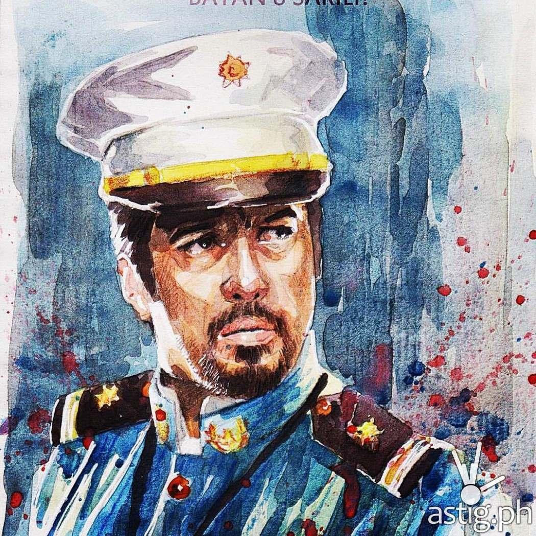 Gen Jose Alejandrino (Alvin Anson) watercolorpainting by Peejhey Palita