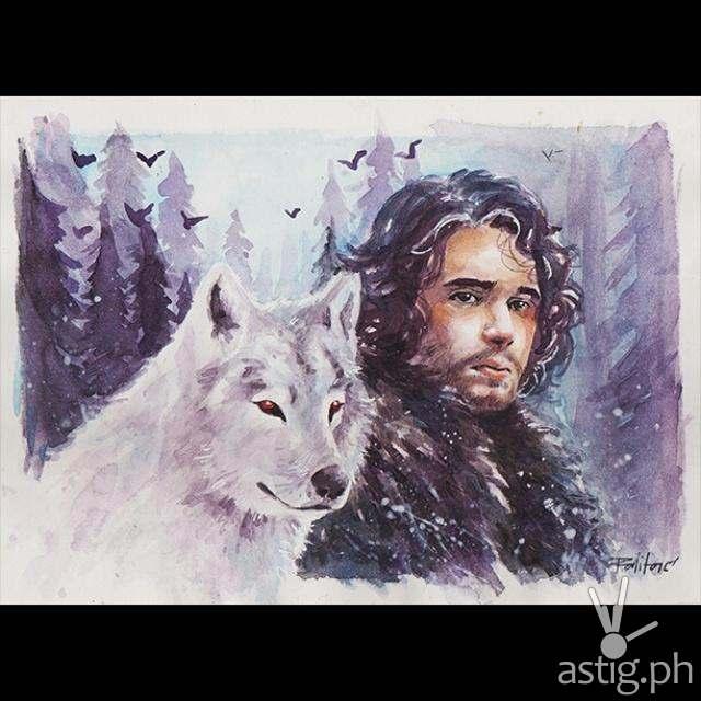 Jon Snow fan art by Peejhey Palita