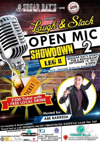 Laugh & Stack Open Mic Showdown 2 @ Sugar RAy's Sports Pub & Restaurant