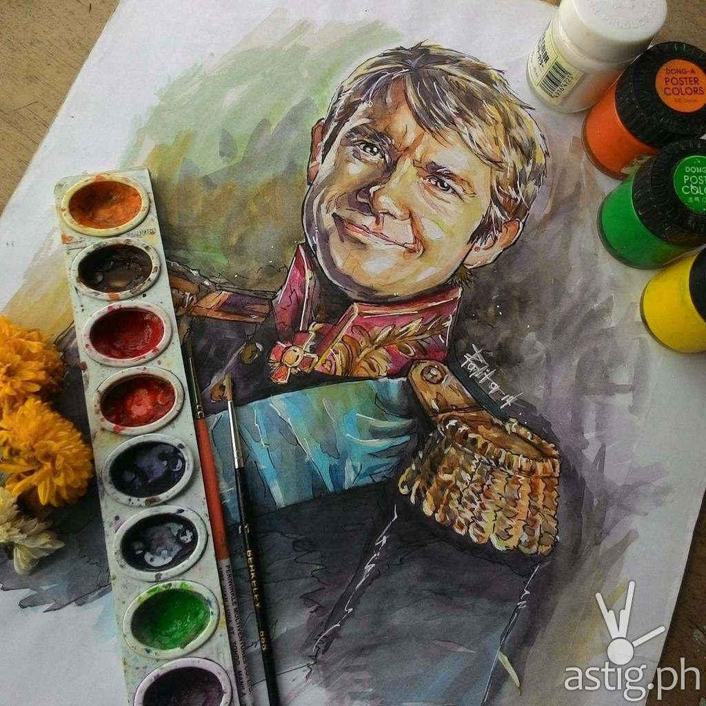 Martin Freeman fan art by Peejhey Palita