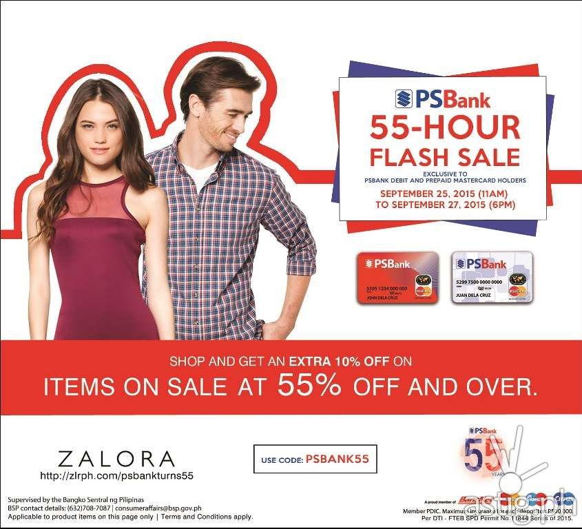 PSBank-Zalora 55 hour flash sale