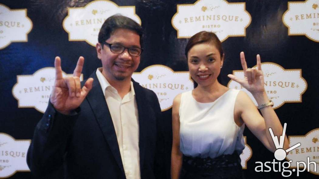 Reminisque Bistro owners Jun Aventura and Ynna Matias