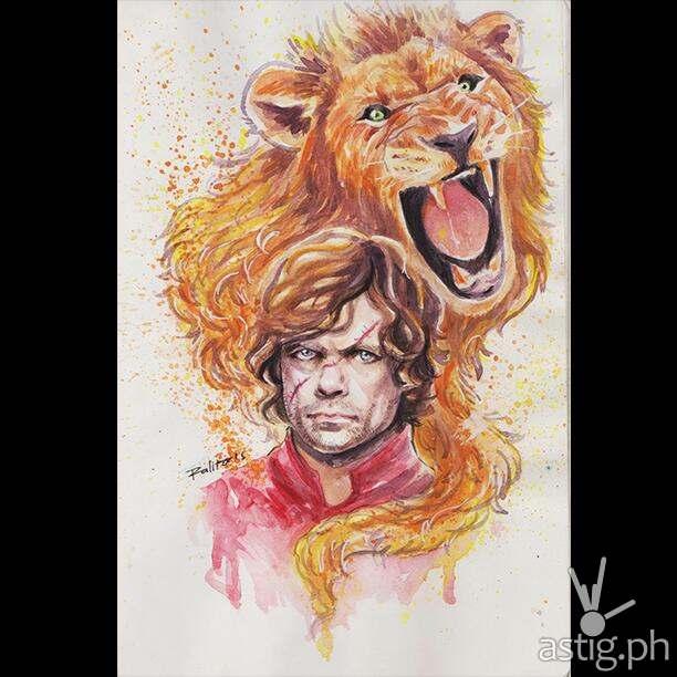 Peter Dinklage (Tyrion Lannister) watercolor fan art by Peejhey Palita