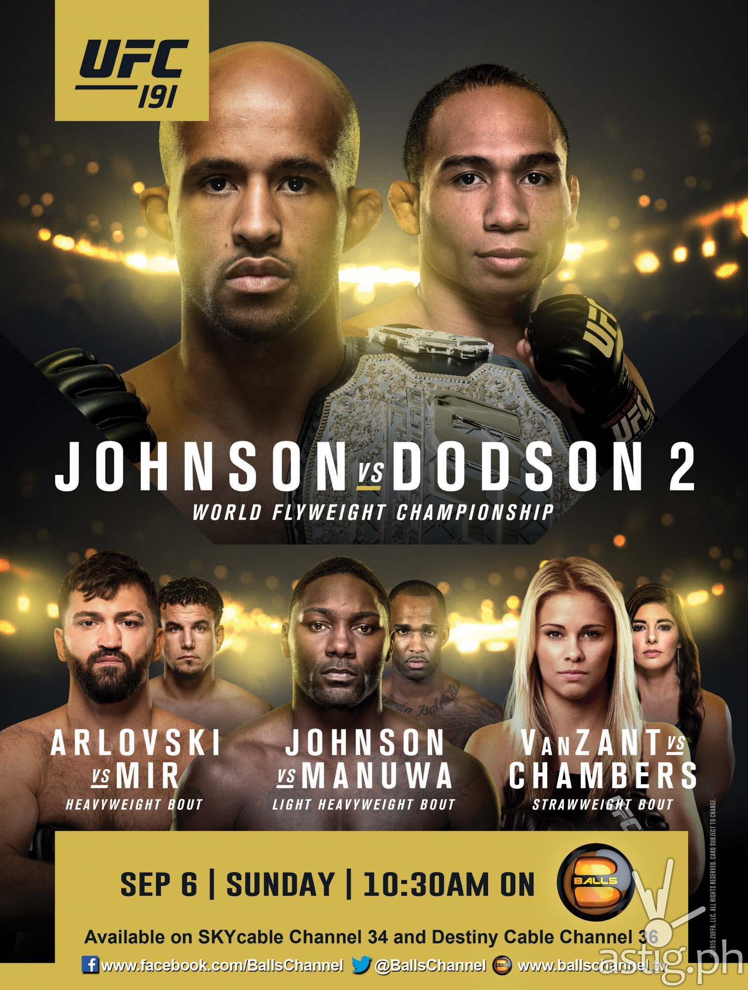 UFC191 Johnson vs Dodson