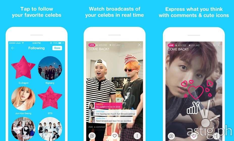 V App lets you meet your favorite K-Pop stars 'on-live'