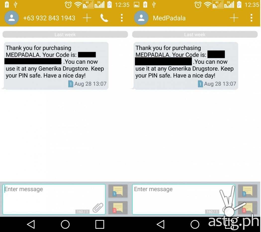 beamandgo sms confirmation