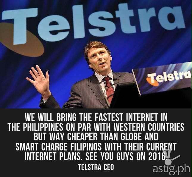 Fake Telstra Philippines photo on Facebook - that's not current Telstra CEO Andrew Penn, but former Telstra CEO David Thodey