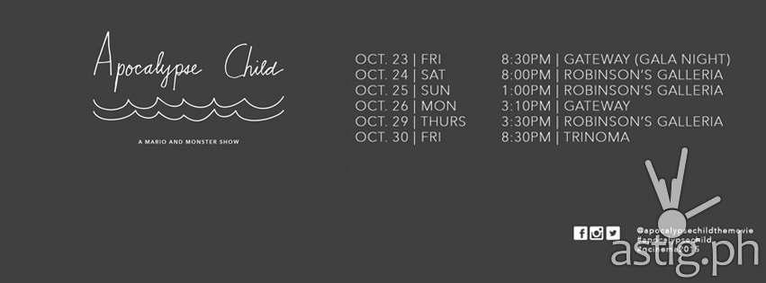 Apocalypse Child Schedule