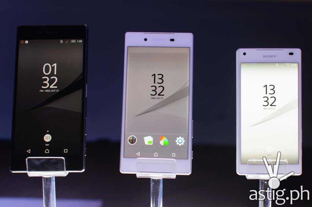 Sony Xperia Z5 Premium, Sony Xperia Z5, and Sony Xperia Z5 Compact