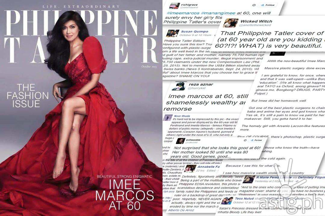 Imee Marcos at 60 Philippine Tatler magazine cover