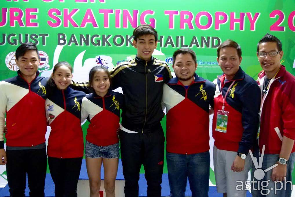 Michael Martinez with figure skaters