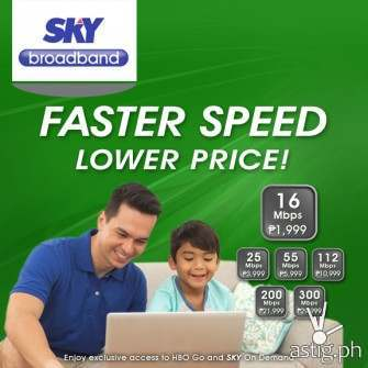 Sky Broadband announces faster Internet starting at 16Mbps for P1,999