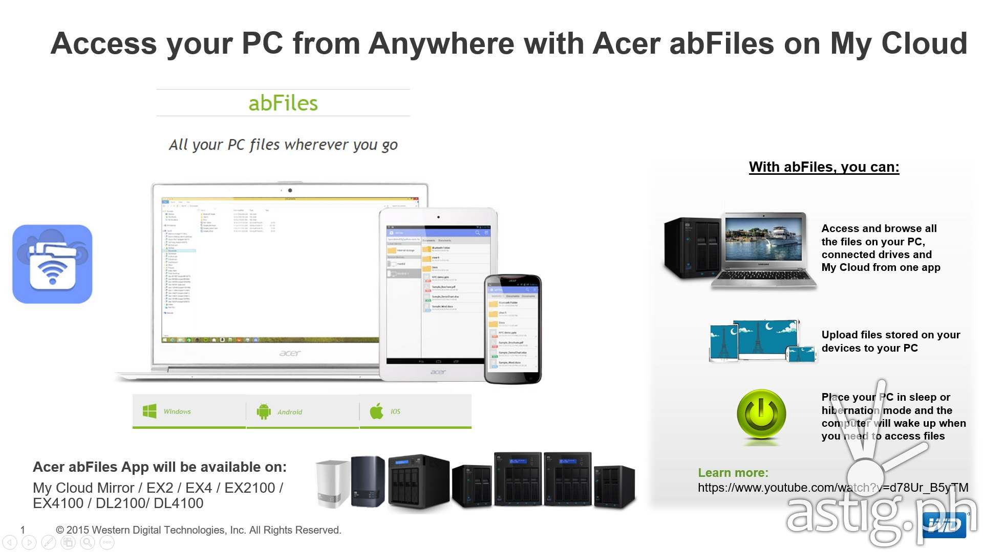 Acer and WD Bring BYOC to My Cloud NAS Series | ASTIG PH