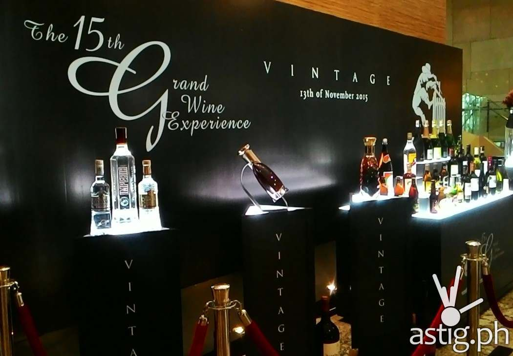 The Grand Wine Experience Exhibit at the Marriott Hotel lobby